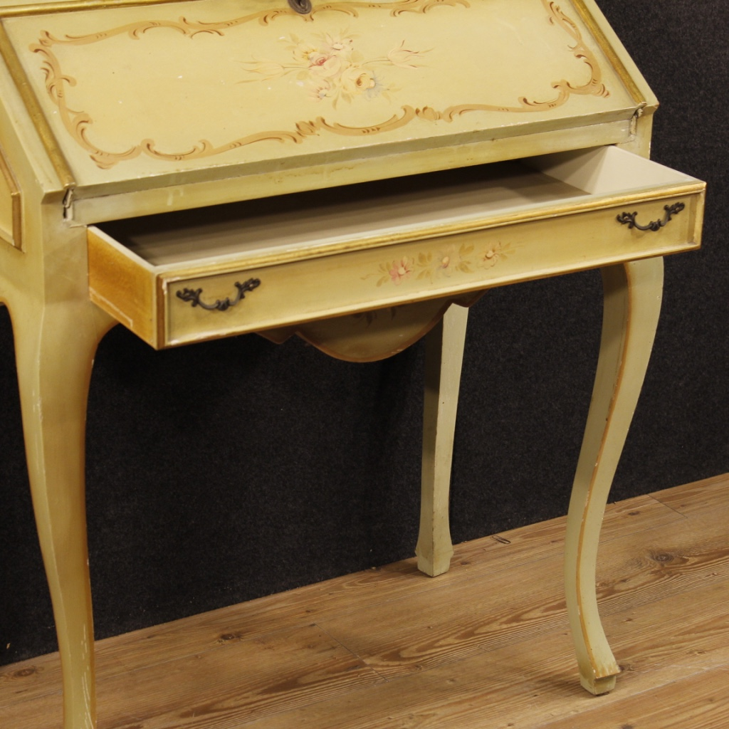 trumeau lacquered secr taire desk bureau vitrine cabinet wood antique style 900 ebay. Black Bedroom Furniture Sets. Home Design Ideas