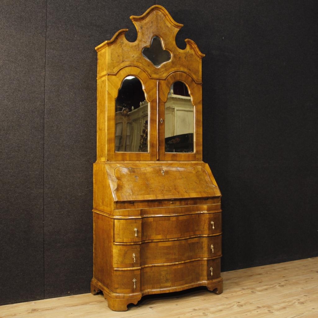 Trumeau veneto in legno di noce e radica con specchi - Mobili sottoscala in legno ...