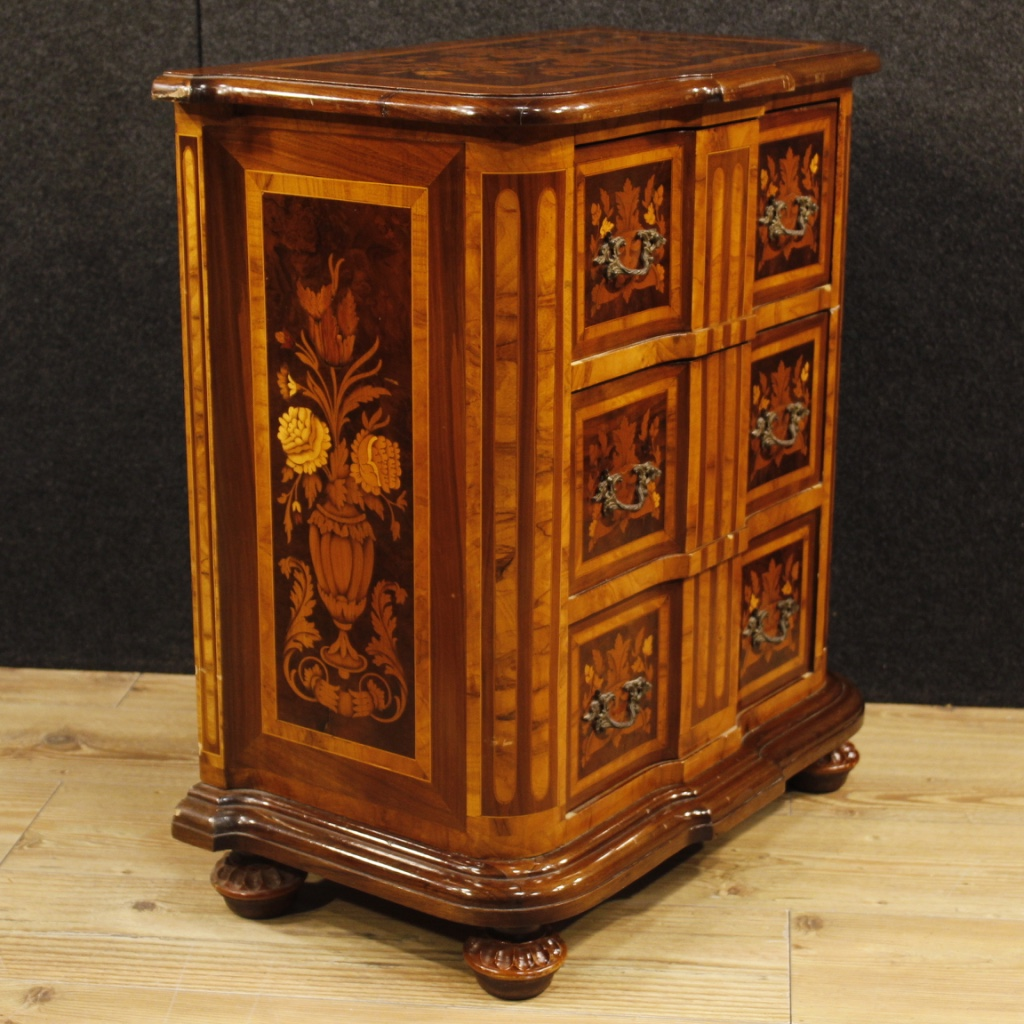 Pair Of Nightstands Inlaid Wood Furniture Coffee Tables