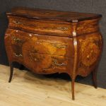 Italian inlaid chest of drawers in Louis XV style