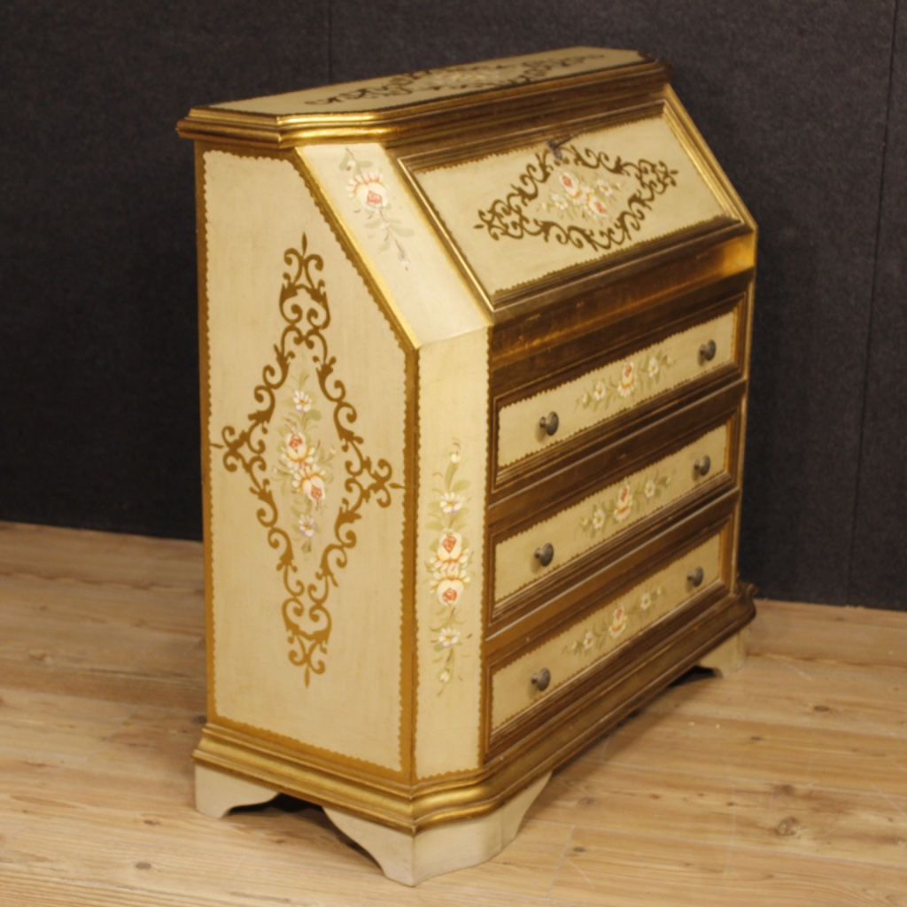 bureau lacquered italian furniture secr taire desk dresser commode wood ebay. Black Bedroom Furniture Sets. Home Design Ideas