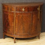 English demilune sideboard in mahogany wood
