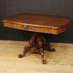 Tavolo in legno mobile salotto epoca 800