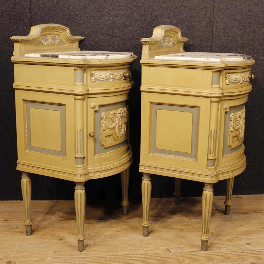 paire tables basse chevet laqu s meubles bois marbre style ancien louis xvi 900 ebay. Black Bedroom Furniture Sets. Home Design Ideas