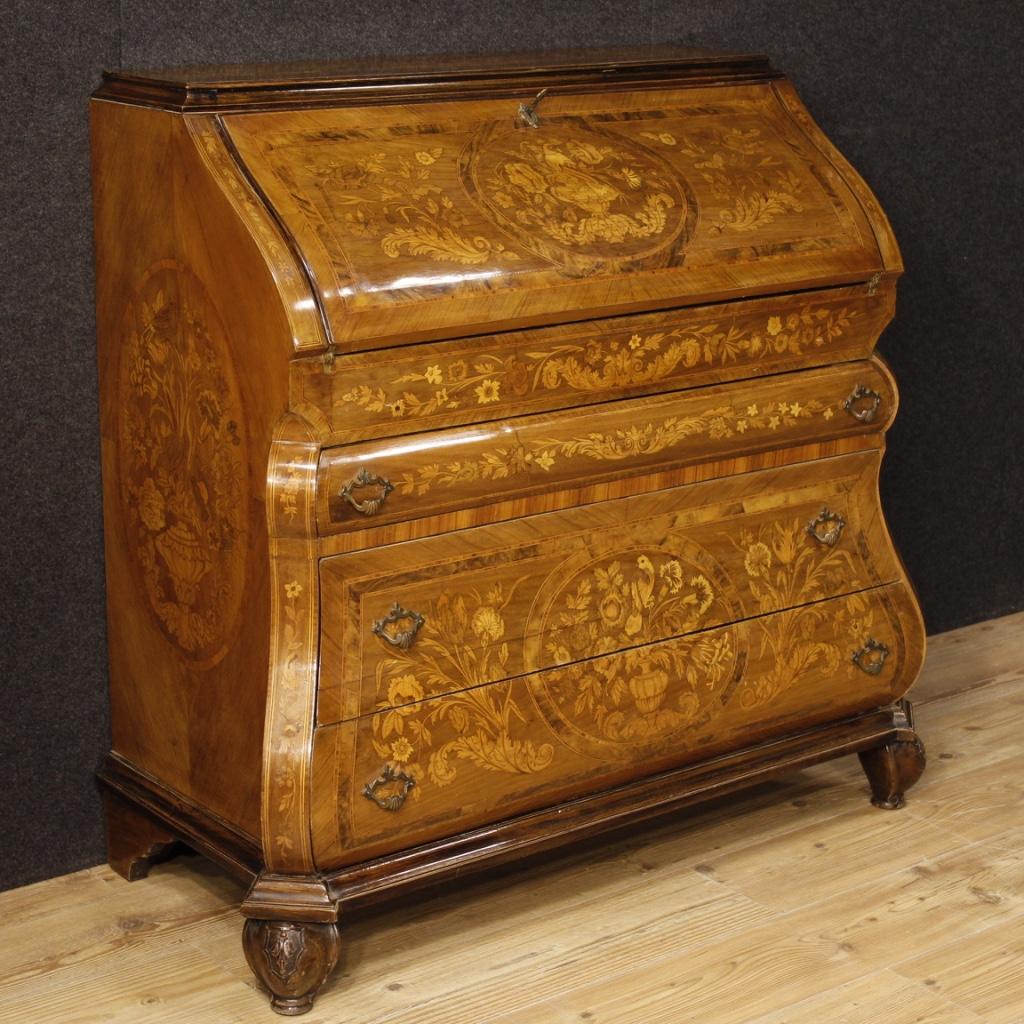 bureau inlaid furniture wood secr taire desk table dutch dresser antique 900 xx ebay. Black Bedroom Furniture Sets. Home Design Ideas