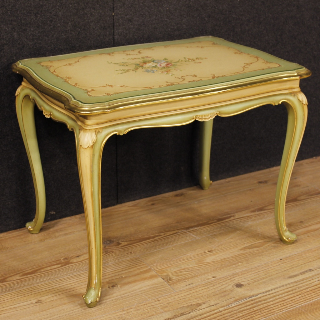 Table basse italienne laqu e dor e et peinte - Table basse peinte ...