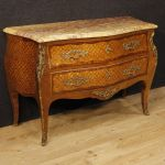 French inlaid dresser in rosewood and mahogany in Louis XV style