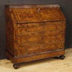 Mobile secrétaire scrittoio stile antico in legno epoca 900