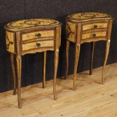 Mobili tavolini in legno 2 cassetti stile antico 900