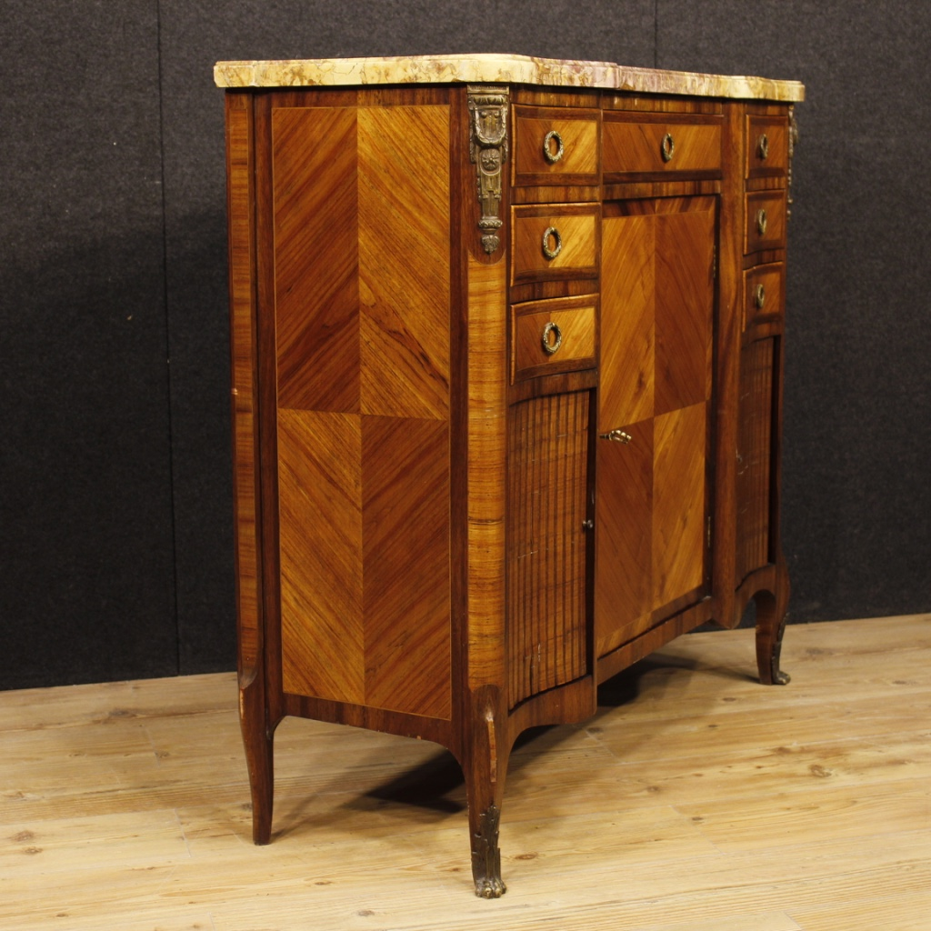 Mobile wooden cupboard dresser french bronzes plan marble antique style 900 ebay - Mobile credenza ...