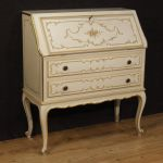 Venetian lacquered, painted and gilded bureau