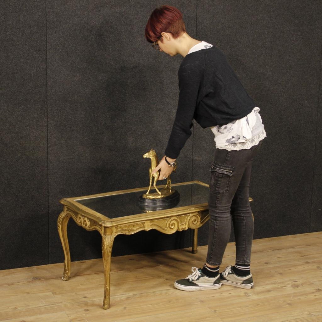 Tavolino francese in legno dorato con specchio - Specchio in francese ...