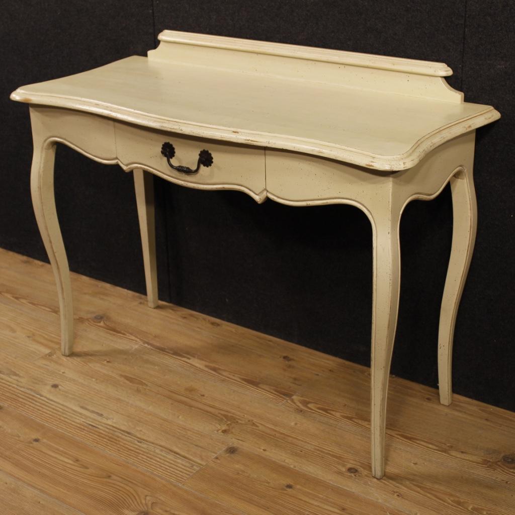Console scrittoio dipinto mobile tavolo italiano in legno for Console mobile