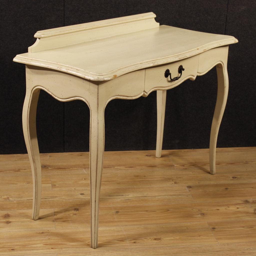 Console desk painted furniture italian wood table living for Italian painted furniture