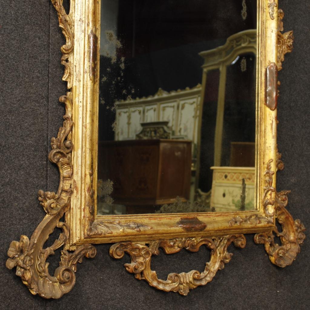 Specchiera Veneziana In Legno Mobile Specchio Dorato Stile