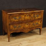 Antique Venetian dresser in inlaid wood from 18th century