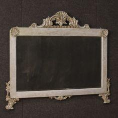 Mobile specchio in legno scolpito epoca 900
