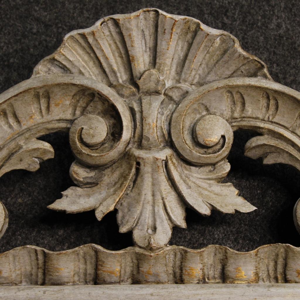 Specchiera italiana dipinta mobile in legno specchio for Specchio stile antico