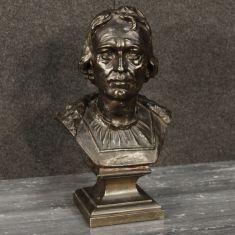 Scultura statua in metallo bronzato epoca 900
