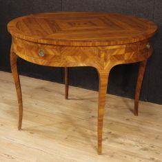 Tavolo da pranzo in bois de rose acero e legno ebanizzato epoca 900