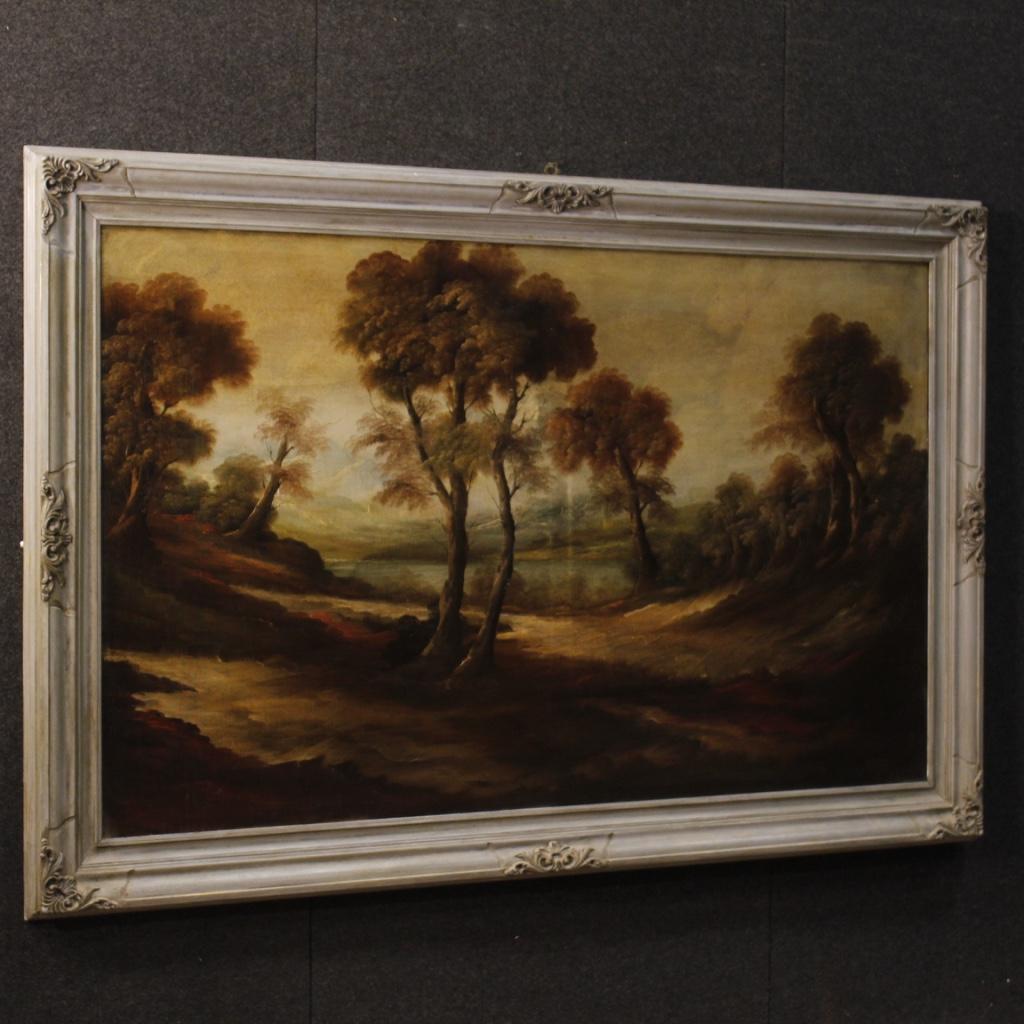 Dipinto francese paesaggio in stile impressionista
