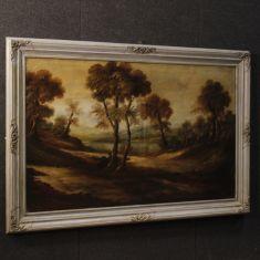Quadro olio su tela con cornice epoca 900