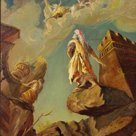 Tableau Italien Mythologique Huile Sur Toile