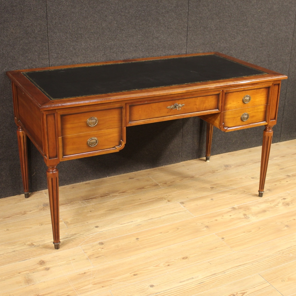 French Writing Desk In Beech Cherry And Fruitwood