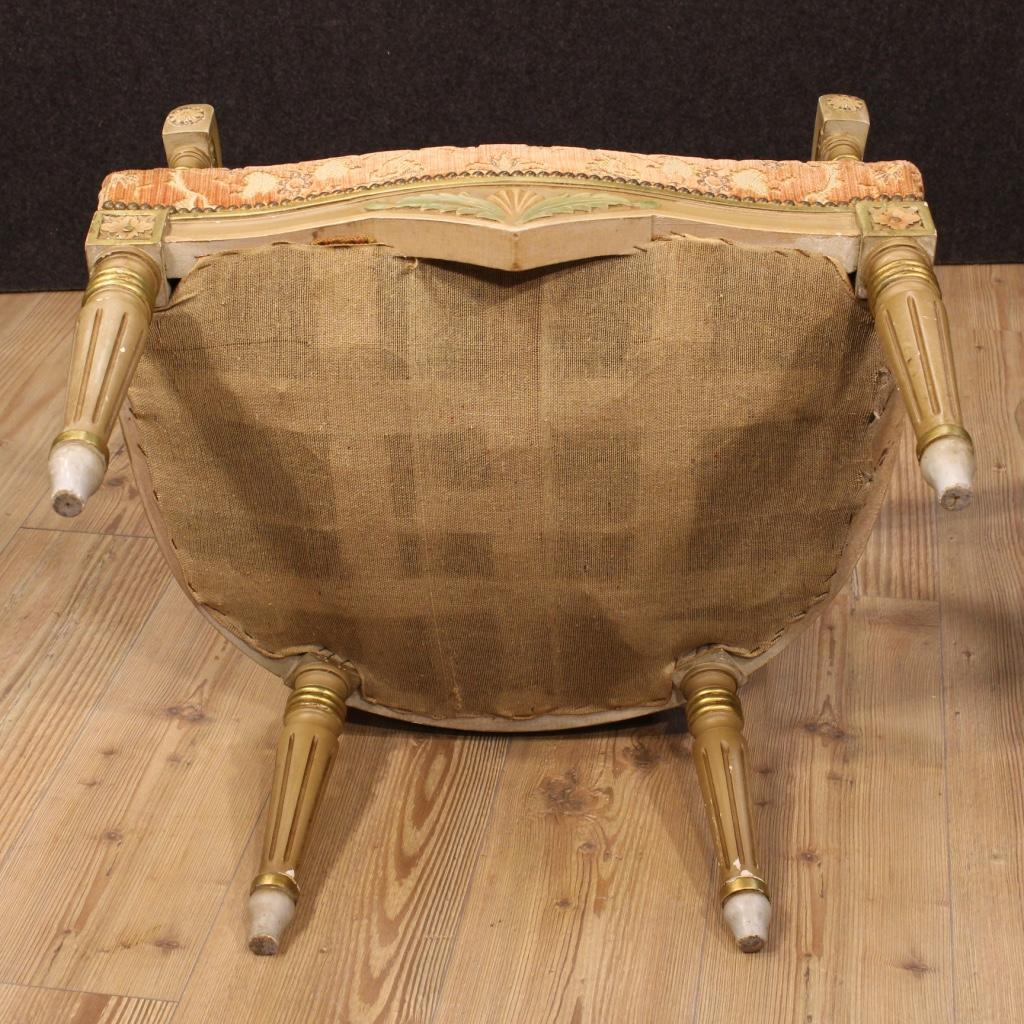 Sessel thron stuhl italienisch lackiert bemalt antik stil for Stuhl italienisch