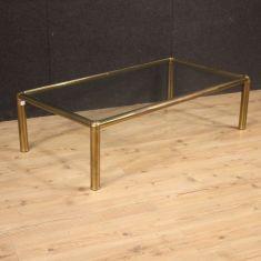 Tavolo basso con piano in vetro da salotto vintage 900