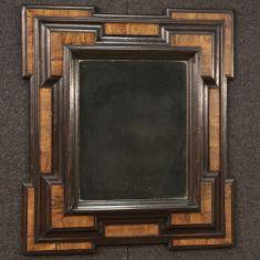 Specchio mobile in legno di noce epoca 700