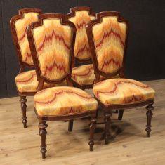 Sedie poltrone in legno mobili da salotto epoca 800
