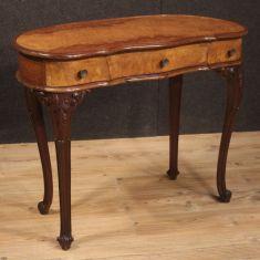 Mobile tavolo scrivania in legno stile antico 900