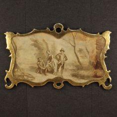 Quadro olio su tela con cornice dorata epoca '800