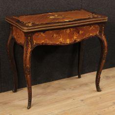 Tavolo da salotto mobile in legno stile antico 900