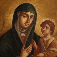 Quadro olio su tela religioso arte sacra epoca 700