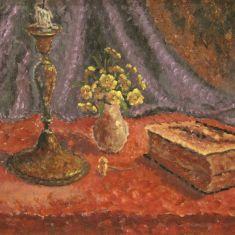 Quadro olio su masonite con cornice stile antico 900