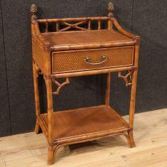 Tavolo basso comodini mobile in legno vintage 900