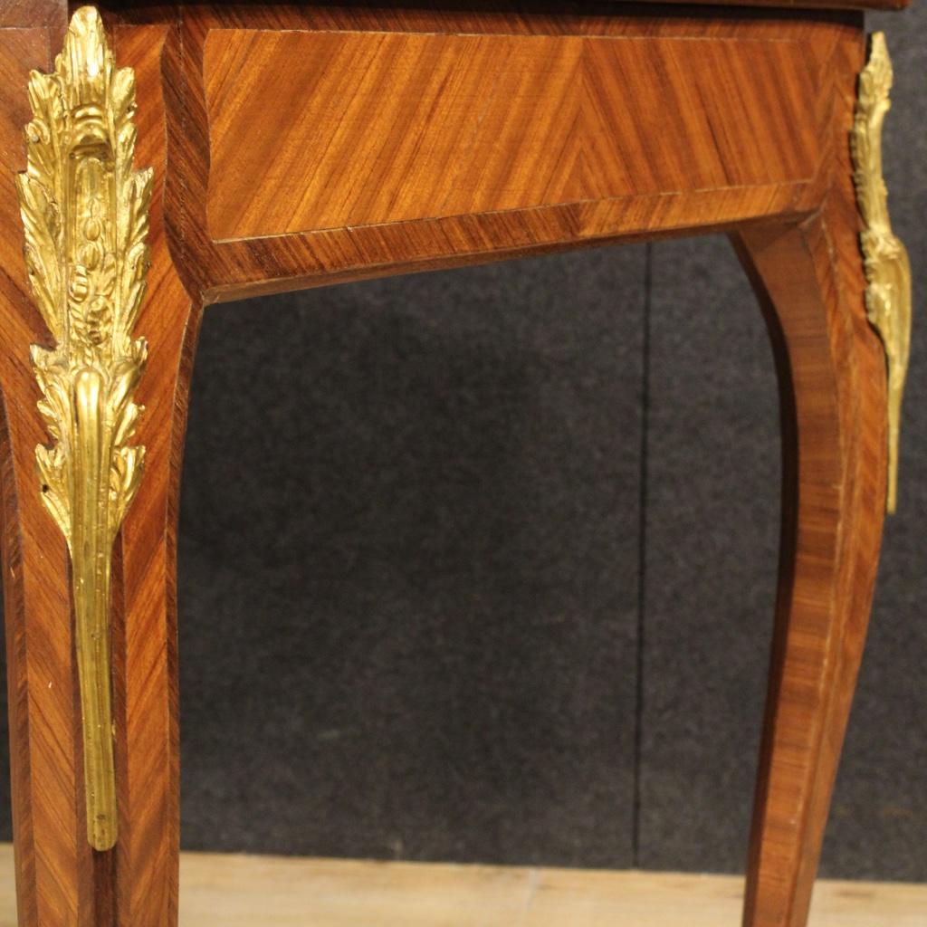 Bureau fran ais secr taire bois de rose bronzes dor meuble style ancien 900 ebay - Bureau bois ancien ...