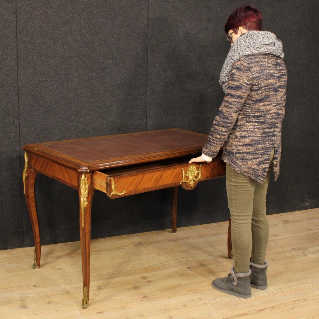 bureau fran ais secr taire bois de rose bronzes dor. Black Bedroom Furniture Sets. Home Design Ideas