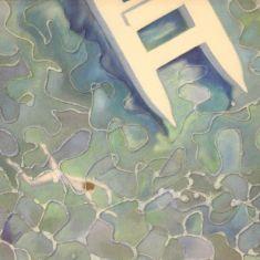 Quadro tecnica mista su tela con cornice stile antico 900