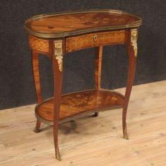 Mobile tavolo comodino in legno da salotto epoca 800