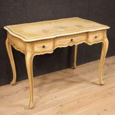 Scrivania mobile tavolo in legno stile antico 900