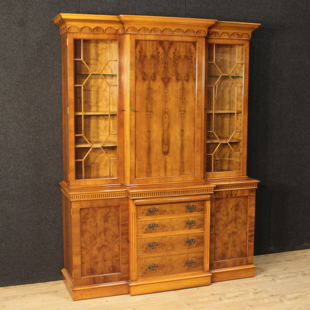 century kitchen cabinets great bookcase in walnut burl and beech 2056