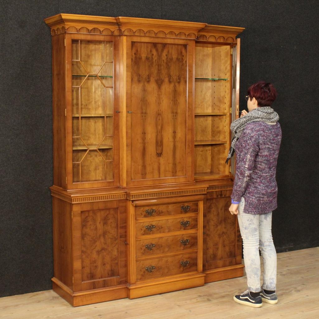 b cherschrank englisch m bel vitrine sekret r schreibtisch kredenz holz 900 ebay. Black Bedroom Furniture Sets. Home Design Ideas