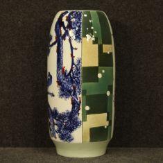 Oggetto mobile in ceramica smaltata e dipinta stile antico 900