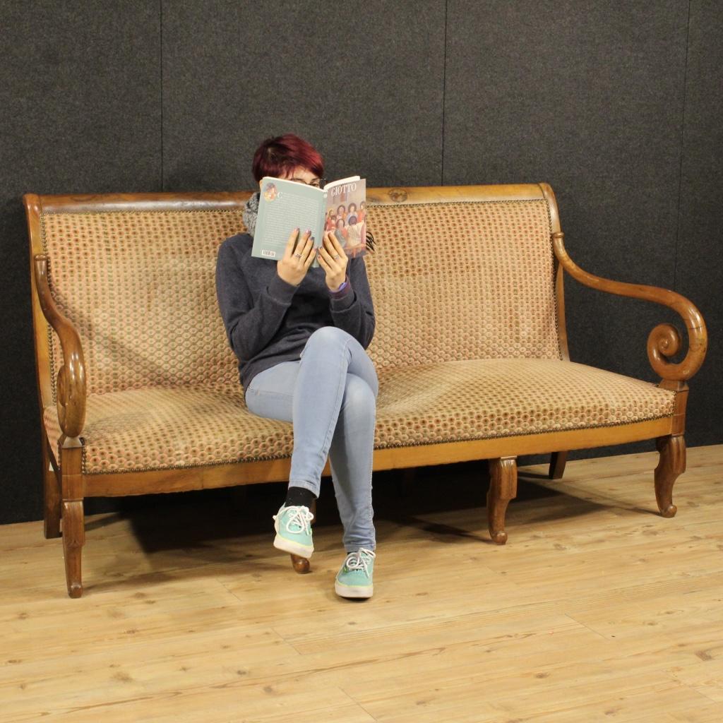 Annuncio divano francese in noce in stile restaurazione for Divano in francese