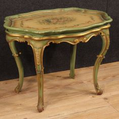 Tavolino a vassoio in legno epoca '900