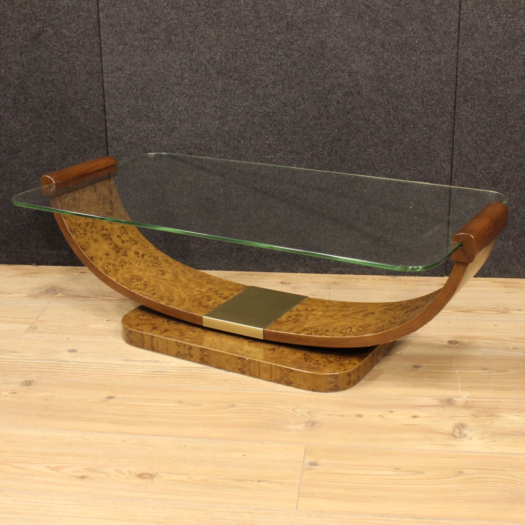Italian coffee table in art deco style for Table de nuit art deco
