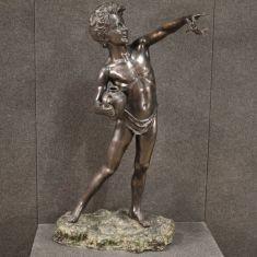 Statua oggetto mobile arte stile antico busto ragazzo bambino epoca 900